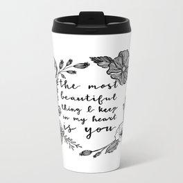Beautiful Poppies Metal Travel Mug
