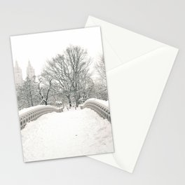 Winter Snow in New York City Stationery Cards
