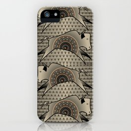 Buffalo Running (Gray) iPhone Case
