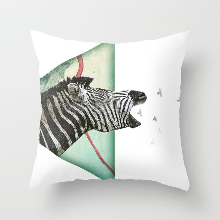 roaring silence Throw Pillow