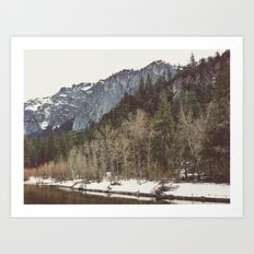 Merced River Layers Art Print