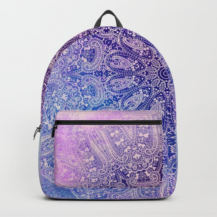 big paisley mandala in light purple Backpack