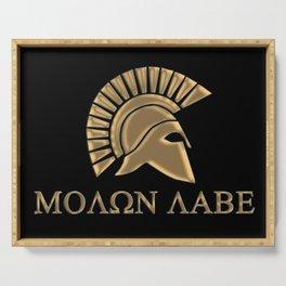 Molon lave-Spartan Warrior Serving Tray