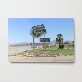 Middle of nowhere motel Metal Print