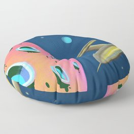 Fantastic Adventures in Outer Space Floor Pillow