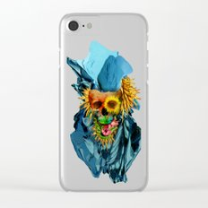 Floral Skull Vivid IV Clear iPhone Case