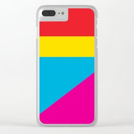 Geometric Shapes 02 Clear iPhone Case