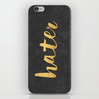 2pac iPhone & iPod Skins featuring Hater by Text Guy