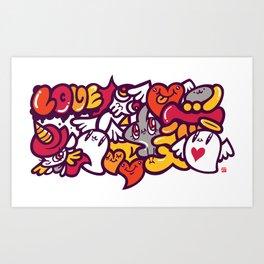 愛 - LOVE Art Print