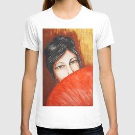 GEISHA WITH UMBRELLA T-shirt