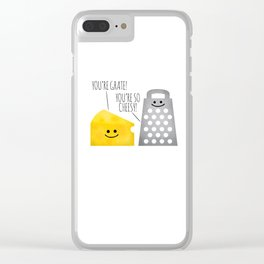 Cheesy Couple Clear iPhone Case