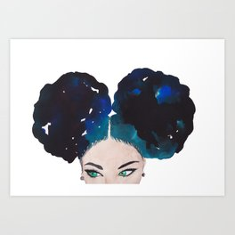 Queen Puff Art Print