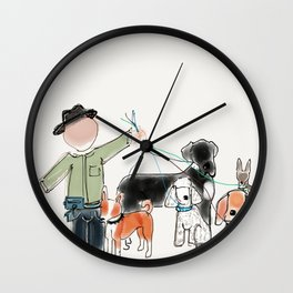 Doggy doo it Wall Clock