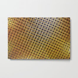 Golden Moorish Pattern Metal Print