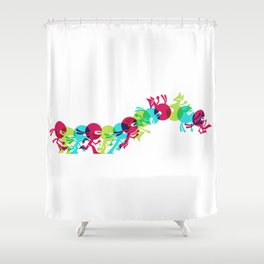 ninja moves Shower Curtain