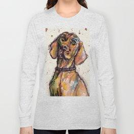 Hungarian Vizsla Dog Closeup Long Sleeve T-shirt