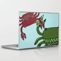 crab Laptop & iPad Skins featuring Crab by Ryoko Rainbow