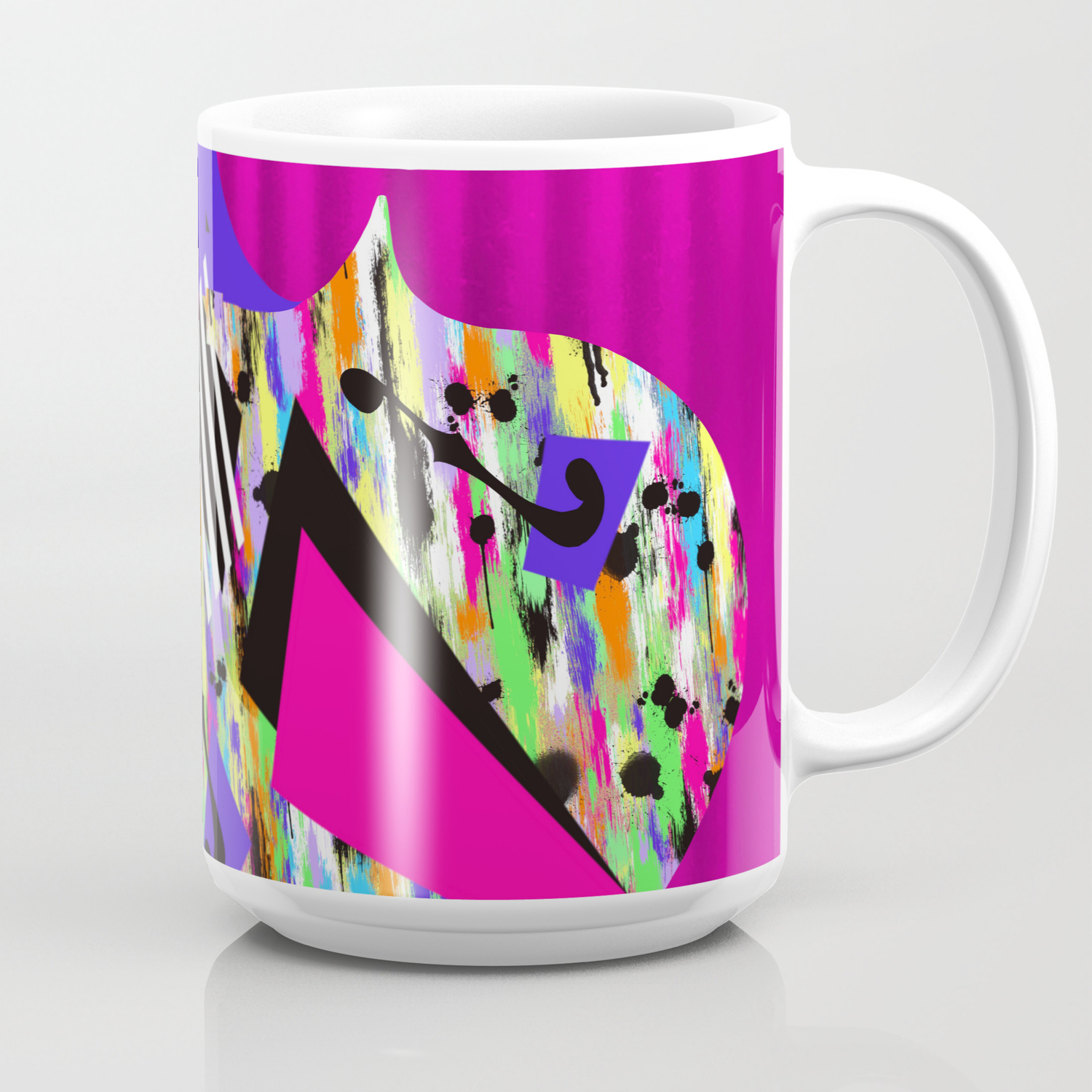 Cello Abstraction On Hot Pink Coffee