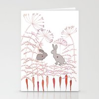 rabbits Stationery Cards featuring Rabbits by Fay's Studio