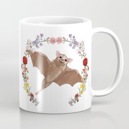 Fruitbat in Floral Wreath Coffee Mug