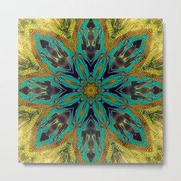 Feather Mandala Metal Print