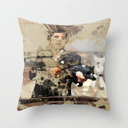 Tony Montana paint art Throw Pillow