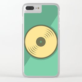 Vinyl records icon illustration Clear iPhone Case