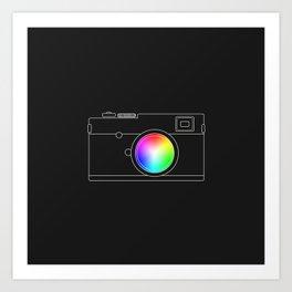 Camera chromatic Art Print