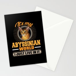 It's My Abyssinian World I Live In It Stationery Cards