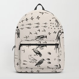 Black birds and their Footprints Backpack