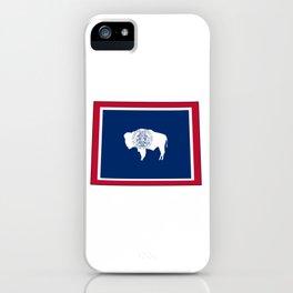 Wyoming Flag iPhone Case