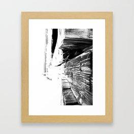 Cabin Texture Framed Art Print