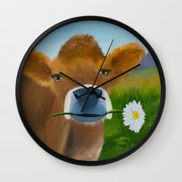 Ruthie with a daisy for Aunt Marsha Wall Clock