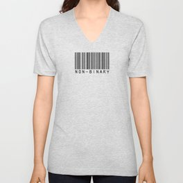 NONBINARY BARCODE Unisex V-Neck