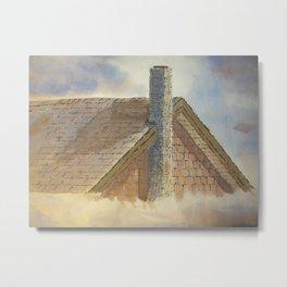 Water Color Roof Metal Print