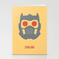 star lord Stationery Cards featuring Star-Lord by d00d it's jake