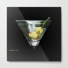 Dirty Martini Cocktail Metal Print