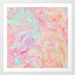 Tutti Frutti Marble Art Print