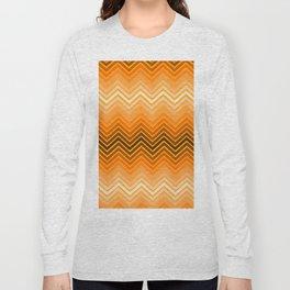 Orange chevron Long Sleeve T-shirt
