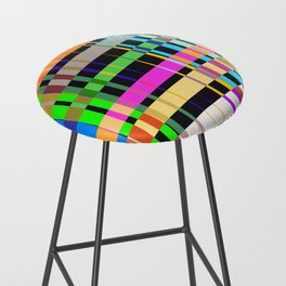 inclined coloured stripes Bar Stool