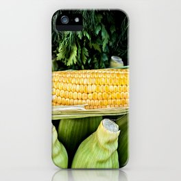 Yellow Corn Over Green Cobs iPhone Case