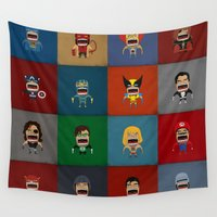 heroes Wall Tapestries featuring Screaming Heroes by That Design Bastard