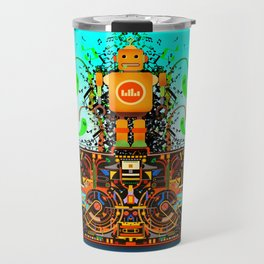 Music Stereo Robot Travel Mug