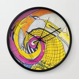 Childhood Series: Watercolor Sketch Doodle Wall Clock