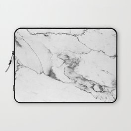 White Marble I Laptop Sleeve