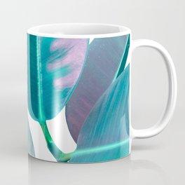 Ficus Elastica Iridescent Glam #1 #tropical #foliage #decor #art #society6 Coffee Mug