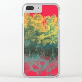 Sunrise in Flowers Clear iPhone Case