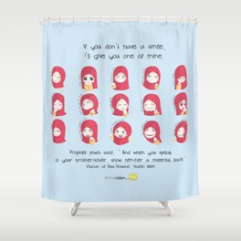 One of My Smiles Shower Curtain