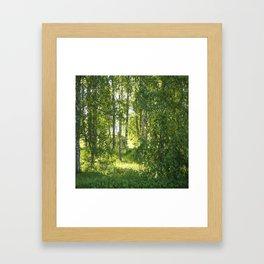 Beautiful Morning Summer Greenery #decor #society6 #buyart Framed Art Print