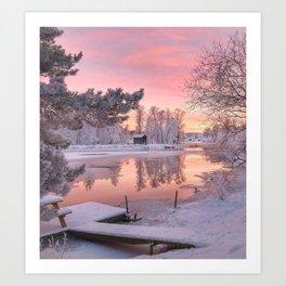 WINTER SCENE-3118/1 Art Print